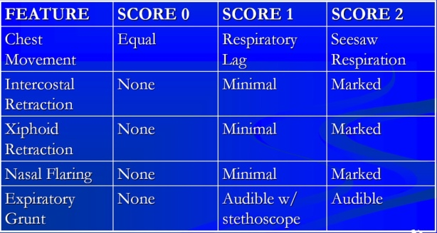 Silverman Score (Silverman-Anderson Index)